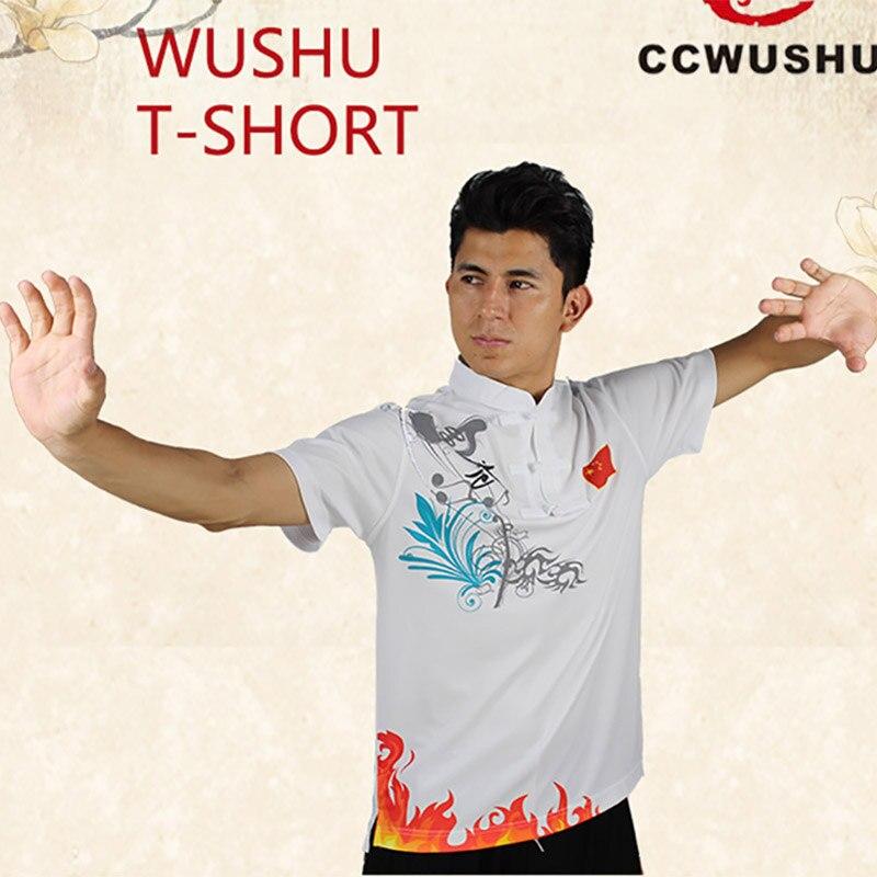 Ccwushu T-shirt Wushu Clothes Uniform Wushu T-shirt Chinese Kungfu Clothes Wushu Taichi Taiji Clothes Uniform