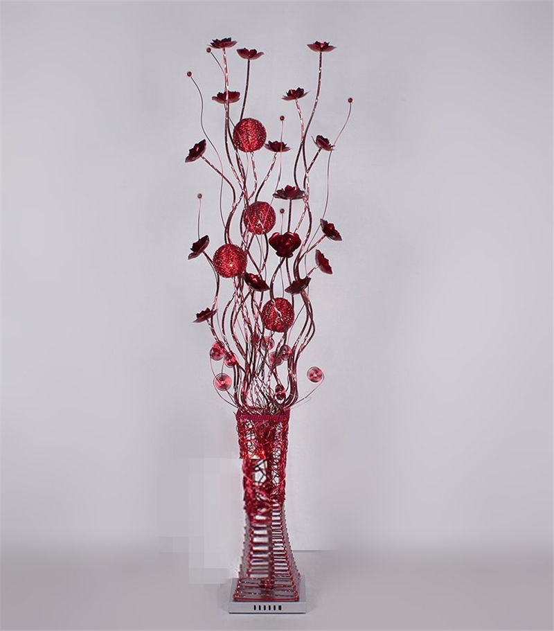 Vase floor lamp gurus floor for Gold flower floor lamp