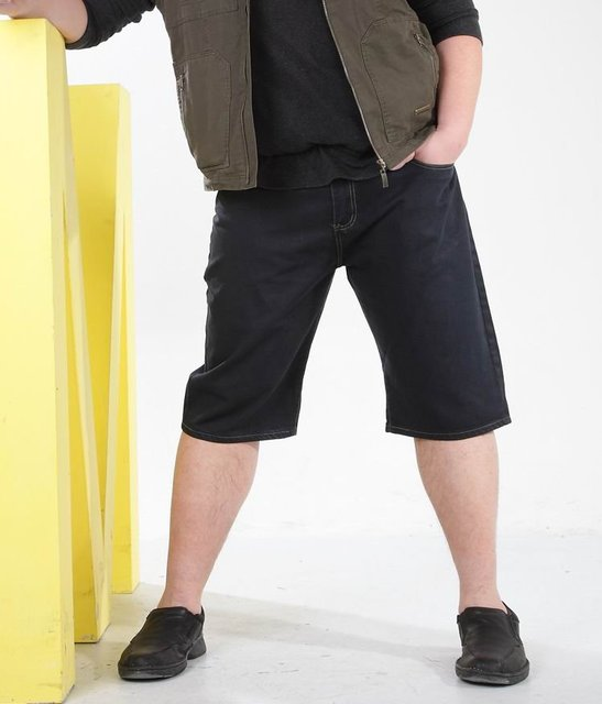 Free shipping 2012 summer plus size denim jeans shorts men, 100 cotton, thin fabric, black, brief style, size 44, 46, 48, 50