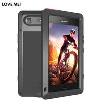 Love Mei Life Waterproof Metal Aluminum Armor Hard Case For Sony Xperia XZ1 XZ1 Compact Cover