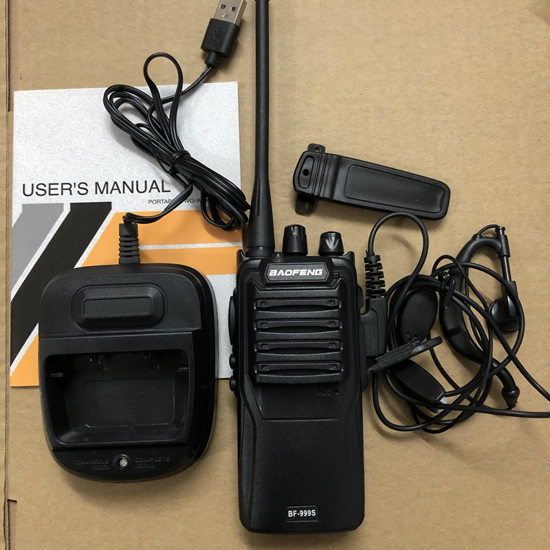 Image 5 - 2pcs Baofeng BF 999S two way radio 16CH 5W Two way radio Portable CB Radio UHF 400 470MHz 16CH Professional taklie walkie-in Walkie Talkie from Cellphones & Telecommunications