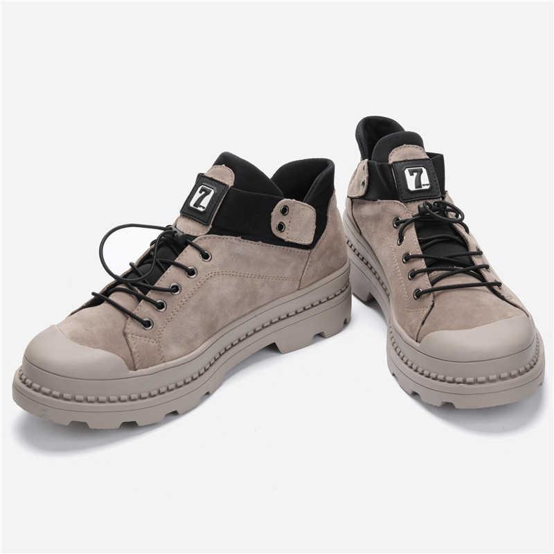 Boyutu 38 ~ 47 erkekler sonbahar çizmeler kovboy moda deri el yapımı sıcak erkek botları #9591