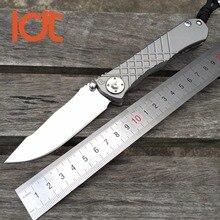 LDT CR Umnumzaan Tactical Folding Knives D2 Blade TC4 Titanium Handle Camping Knife Outdoor Survival Hunting Pocket Tools OEM