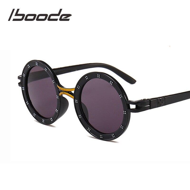 iboode Children Sunglasses Fashion Cute Glasses Goggles Round Female Kids Sunglasses For Boys Girls Baby