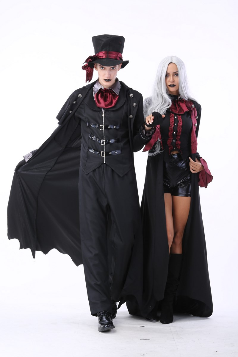 carnaval costume  Adult men and women noble dark serious Count Dracula vampire cosplay Costume party costume  Halloween costume