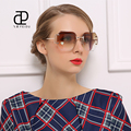FEIDU 2016 Retro óculos Oversized óculos de sol Sem Aro óculos de Sol das mulheres venda quente de alta qualidade Da Marca de Luxo Designer de oculos