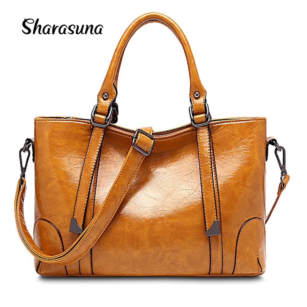 Hot sale 2018 Fashion Designer Brand Women Pu Leather Handbags ladies Shoulder bags tote Bag female Retro Vintage Messenger Bag 4pcs set women fashion backpack pu leather teenage school bag casual clutch crossbody travel bags for girls with purse and bear