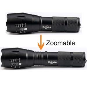 Image 5 - Zk20 8000LM LED פנסים חזק עמיד למים LED מנורת לפיד Lanternas 18650 סוללה צבאי משטרת פנס לפיד אור