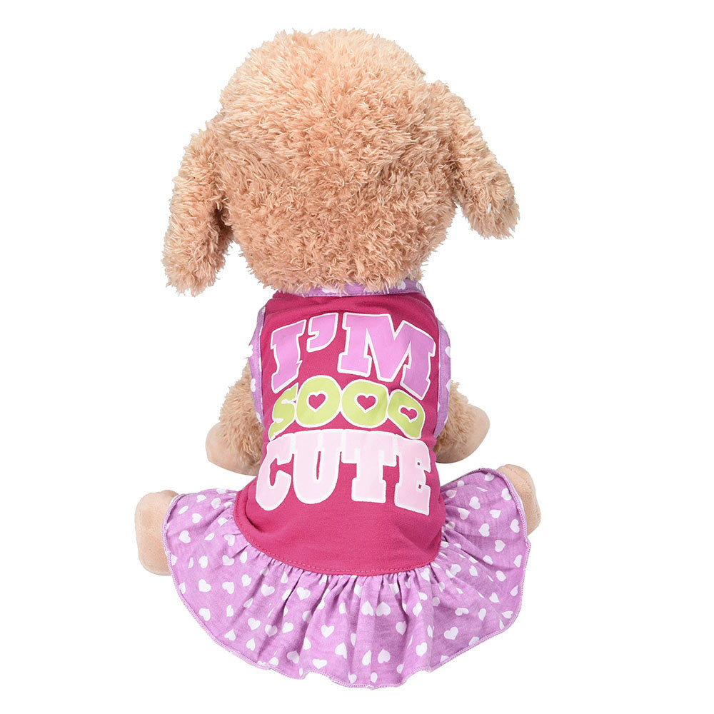 Small Dog Dress Fashion Pet Dog T-Shirt Dress Dog Cat Cute Summer Vest Skirt Clothes For Small Dogs