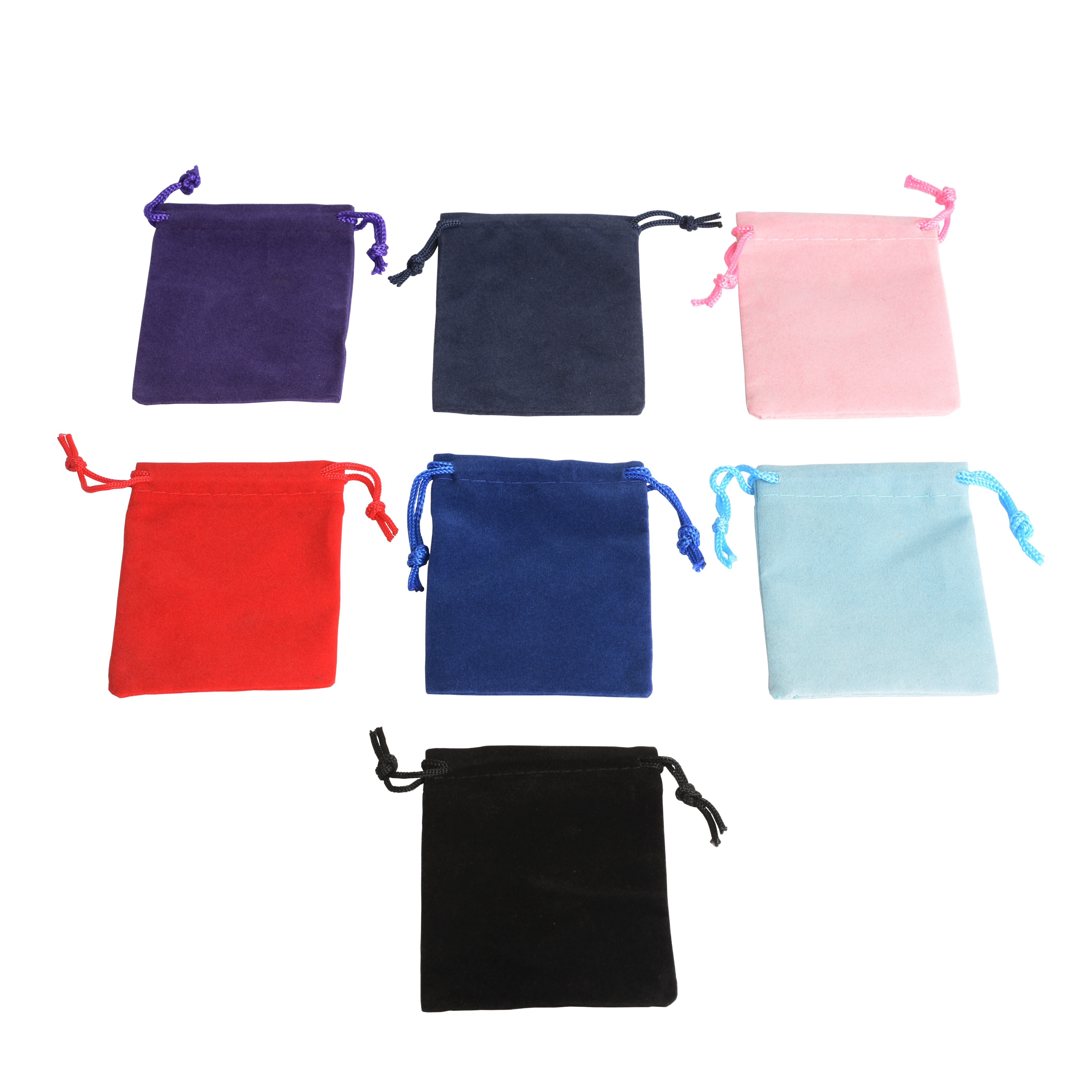 De Bijoux 100Pcs Mix Color 5x7cm Velvet Bag Ring Jewelry Bag Velvet Pouch For Wedding Birthday Annual Party Promotion Gift Bags