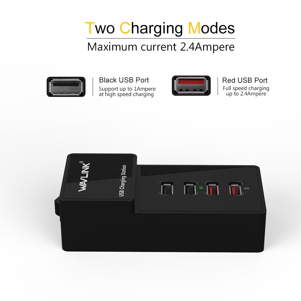 US plug 4 poort wandlader USB 3.0 laadstation met lichtnetadapter 2 - Computerrandapparatuur - Foto 3