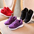 New Style Autumn And Winter Unisex Sneakers For Child Mid Leather Running shoes Net Casual Breathable Soild Color Warm Shoes