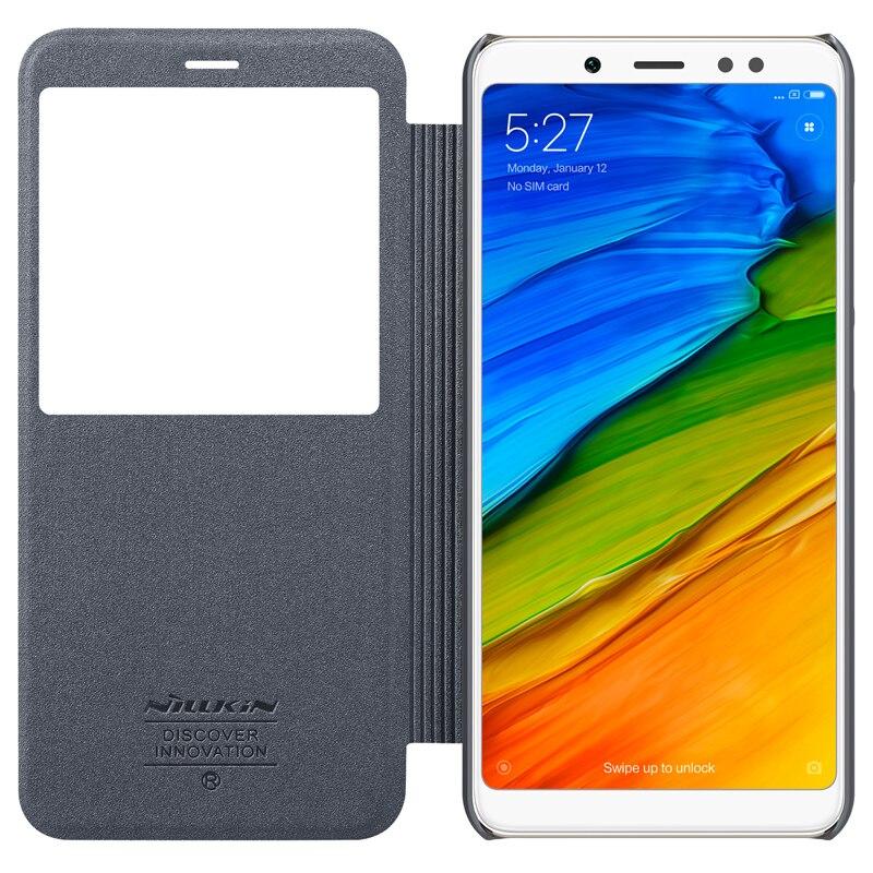 Per il caso di Xiaomi redmi note 5 note5 Pro caso della copertura di NILLKIN sparkle caso di cuoio DELL'UNITÀ di elaborazione della copertura di vibrazione per redmi note 5 sacchetto del telefono intelligente wake up