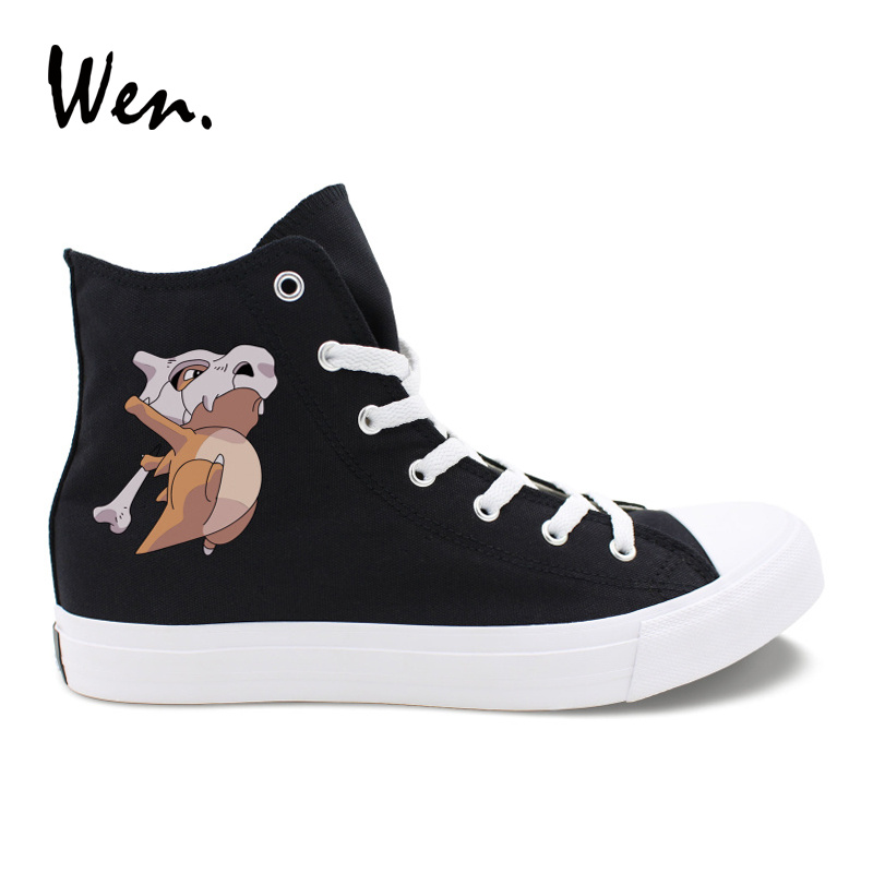 Wen Pokemon Cubone Design Anime Cosplay Canvas Shoes Men Women High Top Sneakers Outdoor Pedal Platform Lacing Loafers Flat