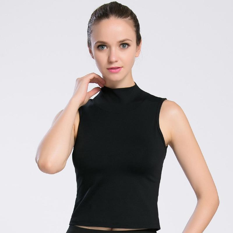 Ejqyhqr Built in Padded Bra T shirt Women Mid Turtleneck
