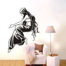 Free Shipping Sexy Girl Wall Decor Decal  Removable Vinyl Home wall Sticker Art DIY Bedroom Mural D-57