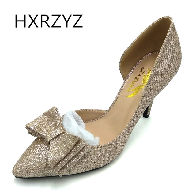 Summer Las Y Super High Heels Wedding Shoes Bride Gold For Womens With Bow