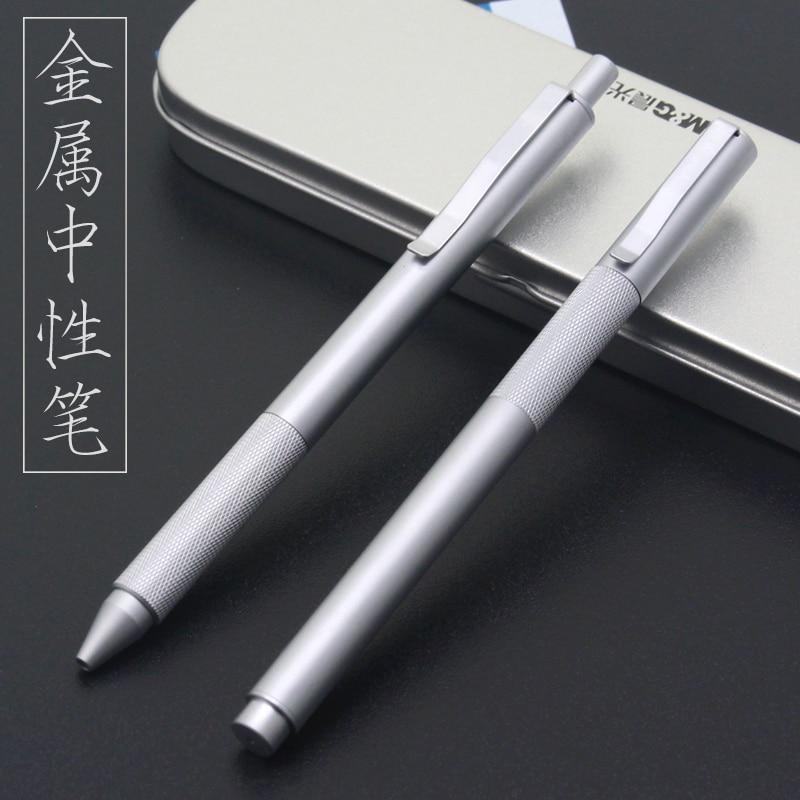 M&G Metal Low Center Of Gravity Stainless Steel Gel Pen 0.5 Signing Pen 1PCS