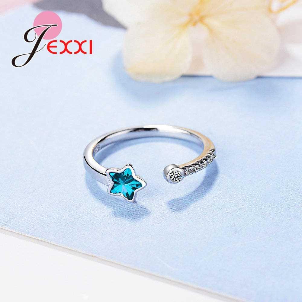 Оригинальные брендовые открывающиеся кольца Регулируемый размер 925 Серебряный Модный женский юбилей аксессуары для свадьбы, помолвки
