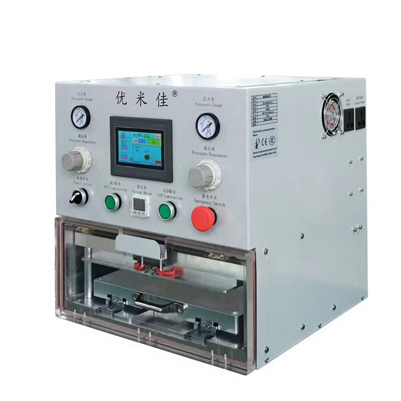 YMJ New Design Vacuum Laminating Machine + OCA Film Laminator + Bubble Remover for LCD Refurbishing 12.9 inch