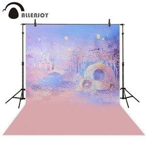 Image 2 - Allenjoy photographie fond bleu Bokeh fond nuit château garçon fille été décors pour Photo Studio caméra Fotografica