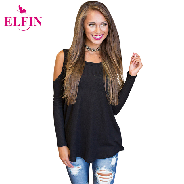 816c3e41060efd Women Blouse Shirt Off Shoulder Top Sexy Blusas Black Cold Shoulder Blouse  Long Sleeve Ladies Tops Cheap-Clothes-China LJ5110R