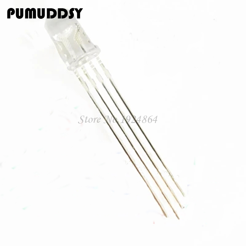 Responsible 50pcs Multicolor 4pin 5mm Rgb Led Diode Light Lamp Diffused Tricolor Round Common Anode Led 5 Mm Light Emitting Diode Diodes
