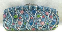 Freies verschiffen!! A15-36, sky blue farbe mode top kristallsteinen ring handtaschen für damen nette parteibeutel
