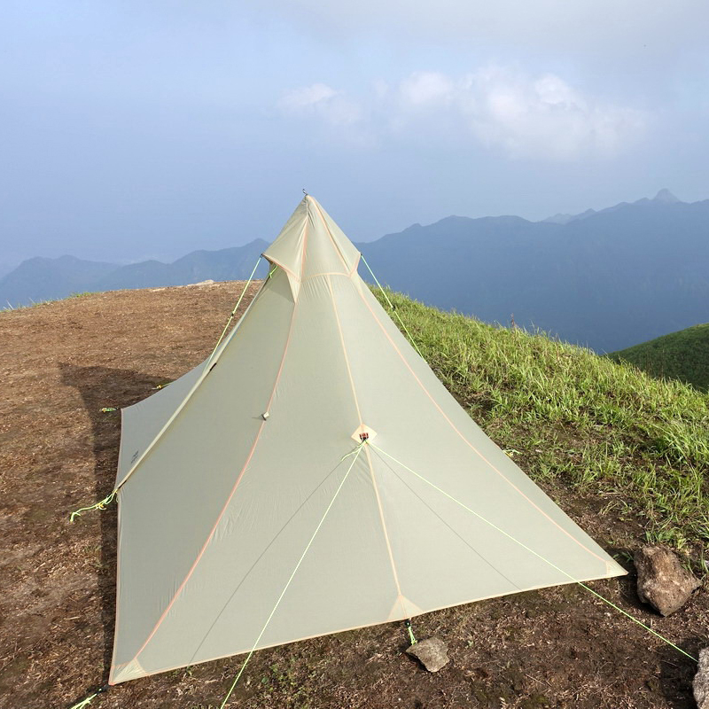 Ultralight outdoor Camping flysheet Tent 4 Season 1 Person Both Sides 15d Silicone barraca de acampamento lightweight Tents 1240g camping tent ultralight 6 8 person outdoor 20d nylon both sides silicon coating rodless large space tent triangle 4 season