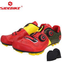 SIDEBIKE RED MTB Cycling Shoes Men Road Bike Ultra light carbon fiber Sole Self-Locking Bicycle Sport Shoes Zapatillas Ciclismo