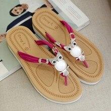 Women's Sandals 2019 Summer Flats Sandals Bohemia Style Flip Flops Sandale Femme Ladies Sandals Slip On Women Casual Shoes цена 2017