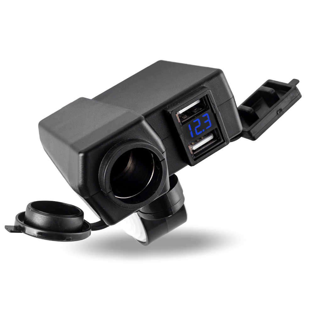 EAFC Motorcycle Accessories Cigarette Lighter Socket Power 5V 4.2A Dual USB Charger 12V-24V for Motorcycle for  Harley Davidson