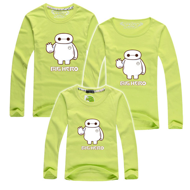 2015 autumn long sleeve children t shirts hero family clothing matching mother daughter clothes mother son outfits family look
