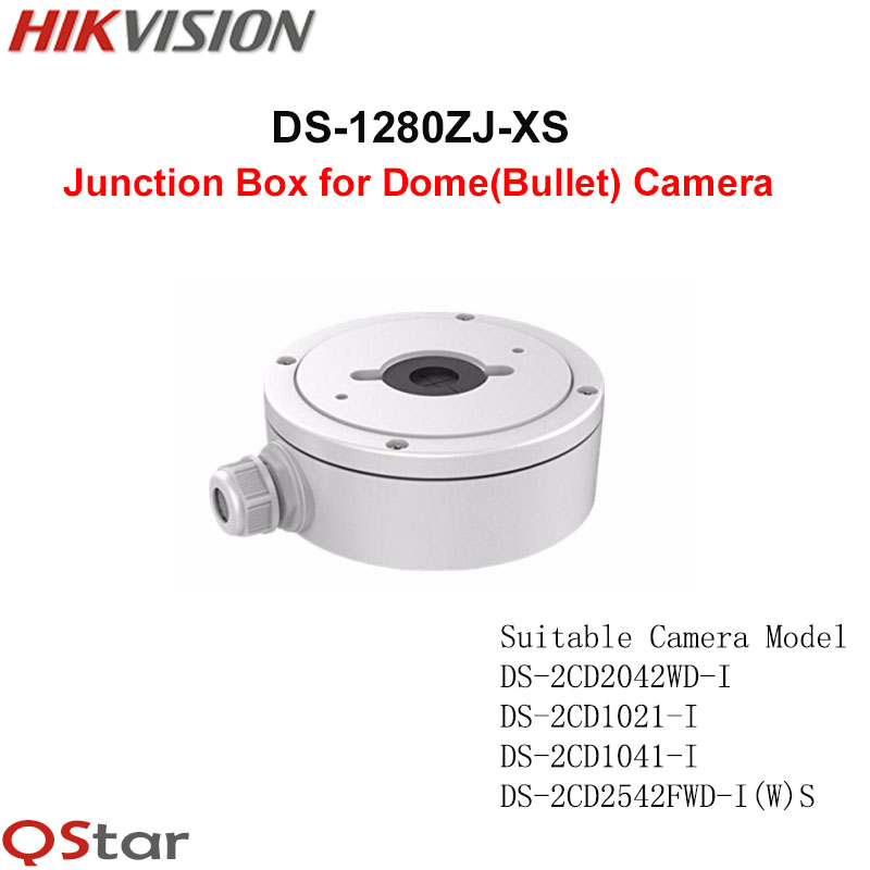 Hikvision Original CCTV Camera Bracket DS-1280ZJ-XS Aluminum alloy material Junction Box for Bullet Mini Dome CCTV Cameras полотенца банные spasilk полотенце 3 шт