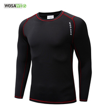 WOSAWE Long Sleeve Cycling Base Layer Winter Warmth Bicycle Running Bodybuilding Bike Clothes Jersey