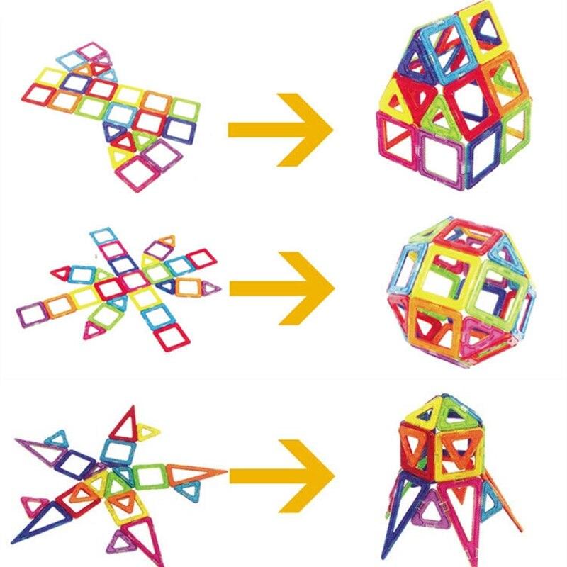 Купить с кэшбэком 30 Pcs Big Size Wisdom Designer Magnetic Building Blocks Constuction Assembly Stereo Square Shape Building Blocks Children Toys