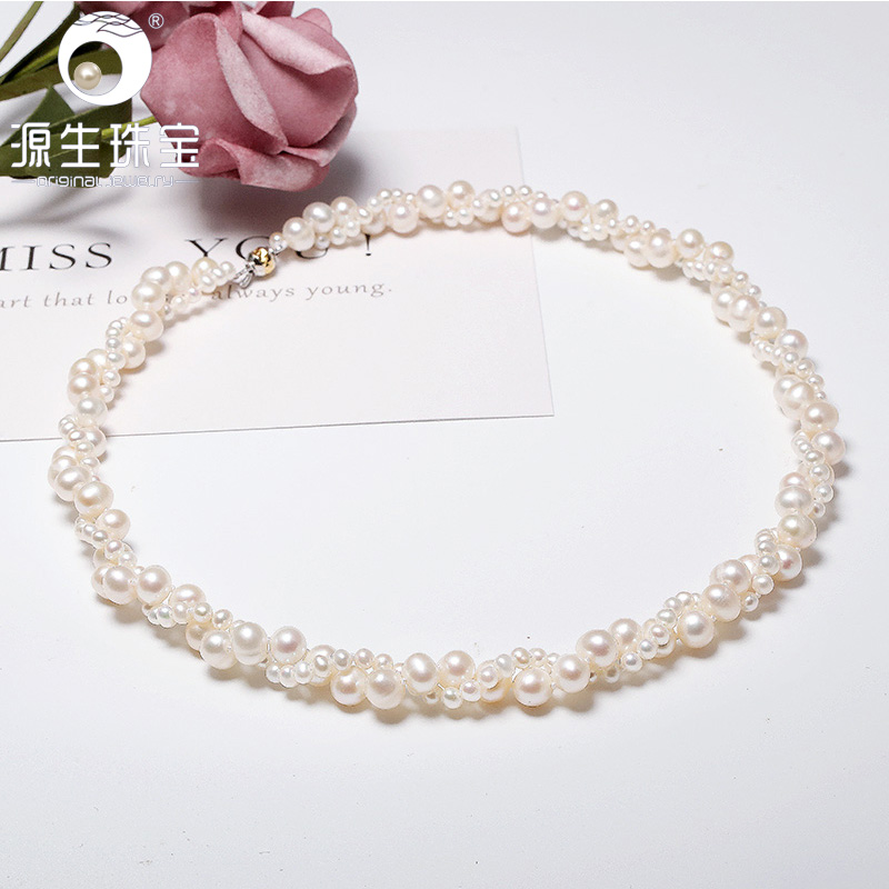 YS 925 Sterling Silver White Pearl Necklace China Freshwater Pearl Necklace Bridal Jewelry For WomenYS 925 Sterling Silver White Pearl Necklace China Freshwater Pearl Necklace Bridal Jewelry For Women