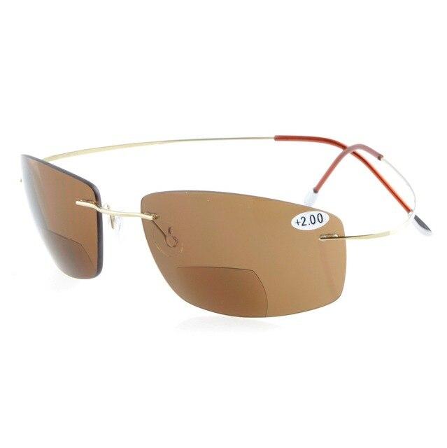 3218bfa6f0469 S1504 PC-Bifocal Eyekepper Titanium Rimless UV400 Polycarbonate Lenses Sun  Readers Bifocal Sunglasses+1.0 +1.5 +2.0 +2.5 +3.0