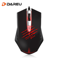 Dareu Gaming Mouse DPI Adjustable Computer Optical LED Game Mice Wired USB Games Cable Mouse LOL