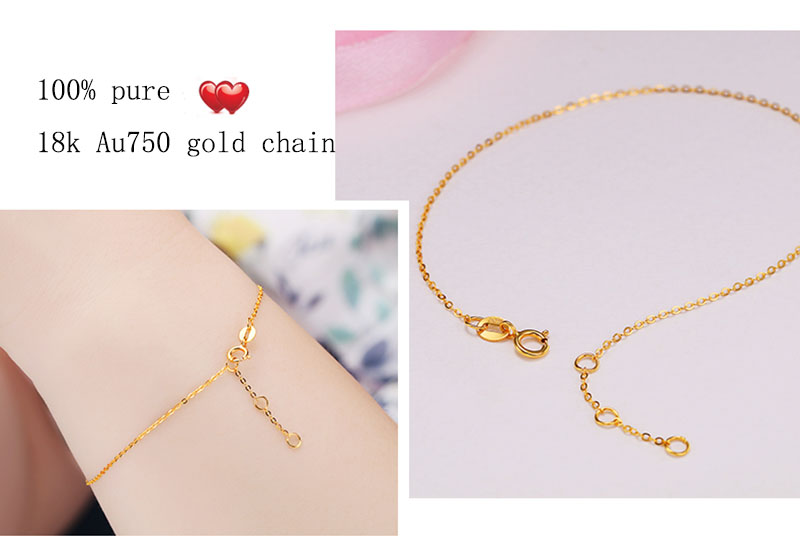 18k Au750 gold chain bracelet (7)