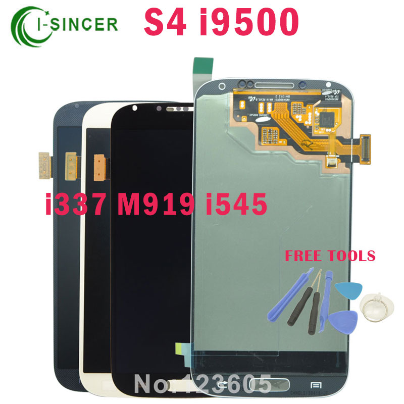 ФОТО Top Quanlity For Samsung for Galaxy S4 LCD Display Touch Screen Replacement Digitizer Assembly i9500 i9505 i337 M919 i545 lcd
