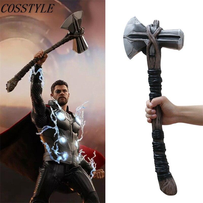 2018 Infinity War Thor Stormbreaker Axe 1:1 Cosplay Avengers 3 Thor Axe New Handmade Cos Superhero Weapon Halloween Party Props