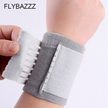 FLYBAZZZ Elastic Knitted Pressure Bandage Volleyball Hand Sport Wristband Gym Support Carpal Tunnel Wrist Brace Support Hand Pad aolikes 1pcs cotton elastic bandage hand sport wristband gym support wrist brace wrap carpal tunnel
