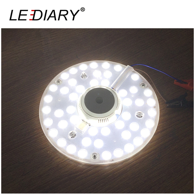 LEDIARY Bright 2D Replaceable LED Light Source For European Ceiling Lamp Marked 24W 220V With Magnet Led Lights Replacement PCB