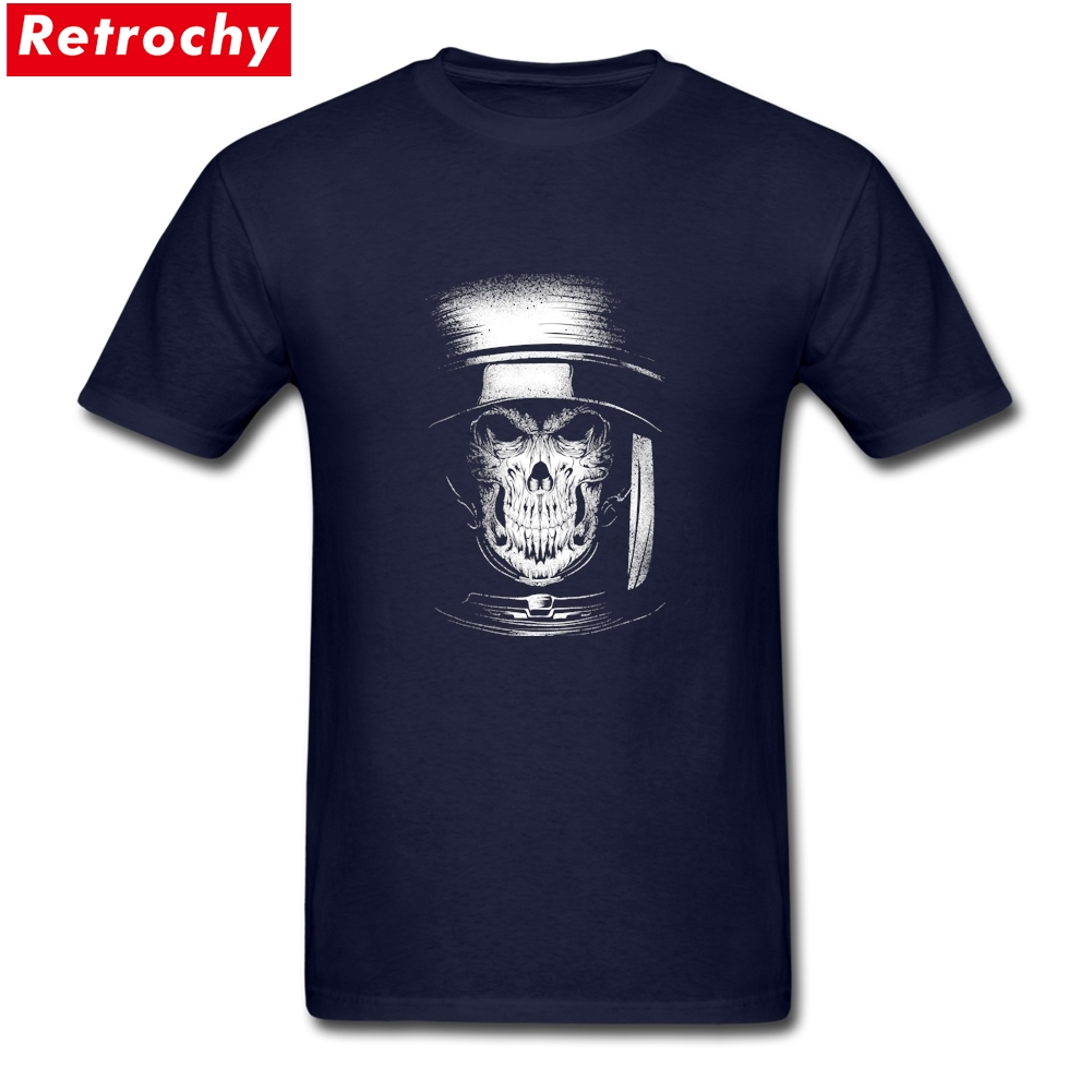 Regular dead in space Tee Top Designer Short Sleeves Plain Cotton black skull t shirt Brand T-Shirt image