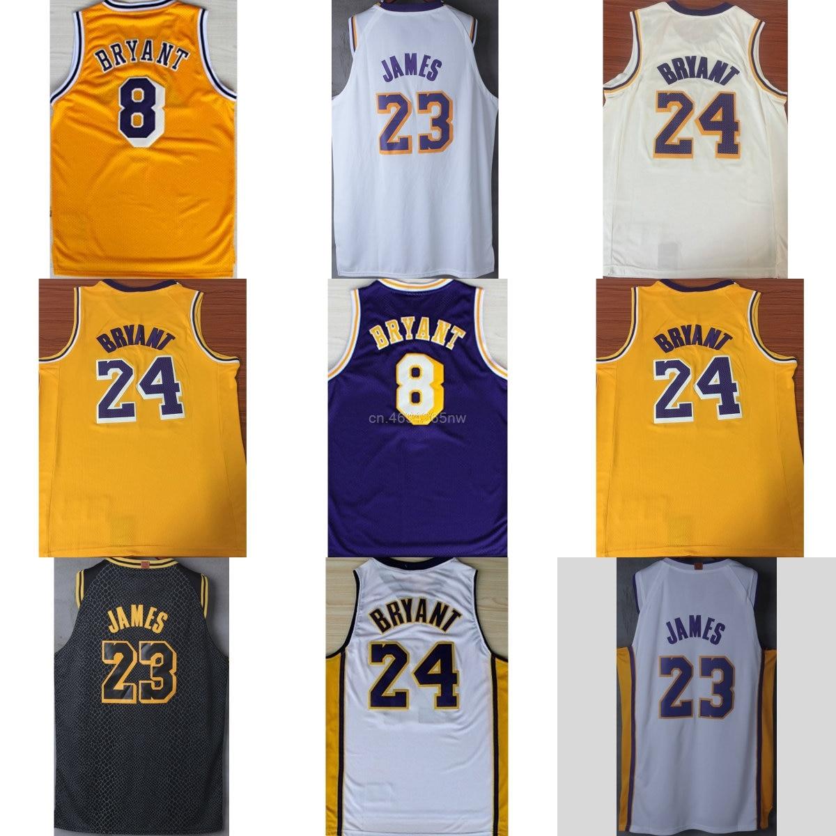 Hot 2018 2019 new Women lebron basketball jerseys james 23 8 24 kobe bryant  jerseys for cheap white yellow black gold purple dfa243350
