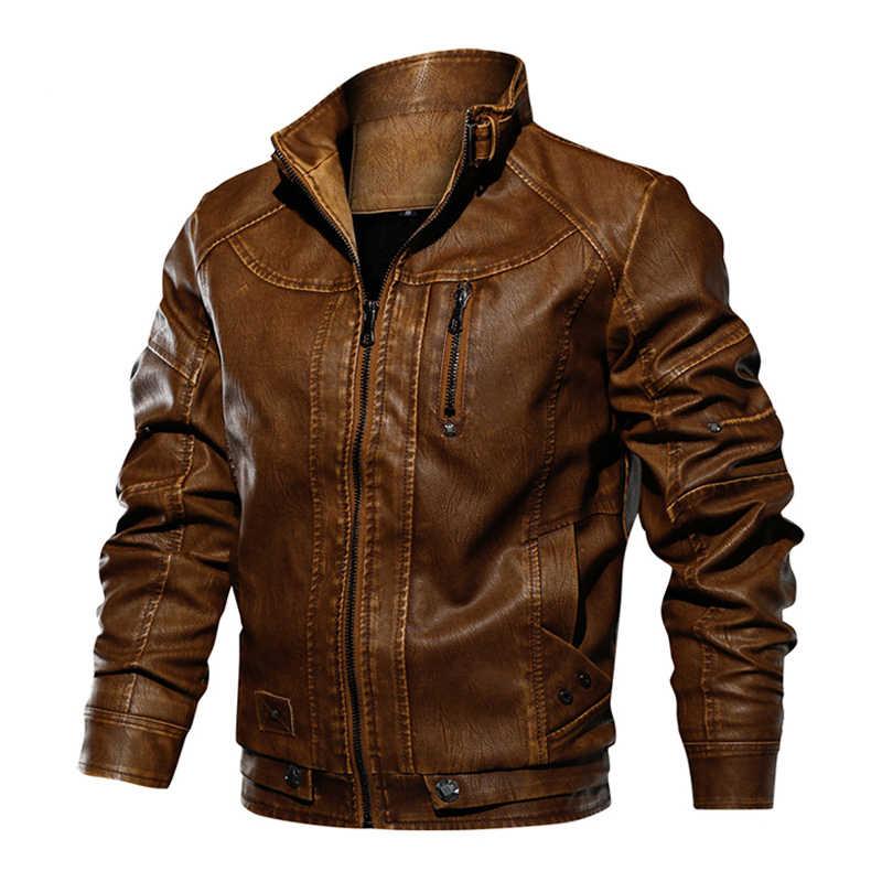 Тактическая Сумка из искусственной кожи Куртки мужские в стиле милитари осень-зима Повседневное кожаная куртка мужская мотоциклетная ветрозащитная куртка cuero hombre