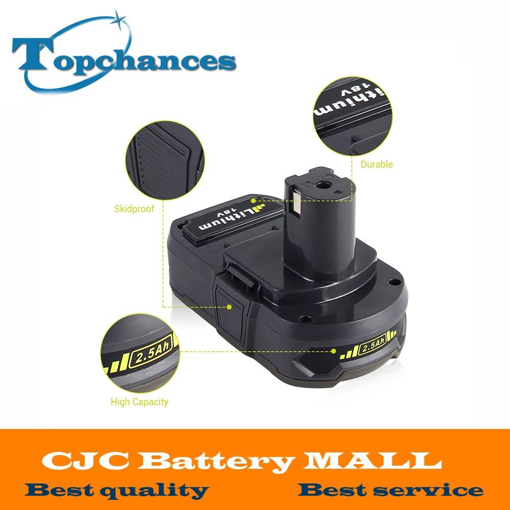 Batterie Rechargeable Li-Ion 18 V 2500 mAh pour Ryobi RB18L25 One Plus pour outils électriques remplacer P103, P104, P105, P108