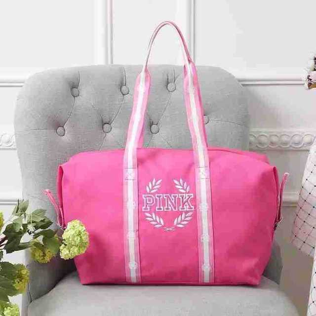8bd7980a9b42 2018 new fashion hot design PINK Duffle Bags Tote Marl pink beach vs pink  bag black color handbag Shopping bag
