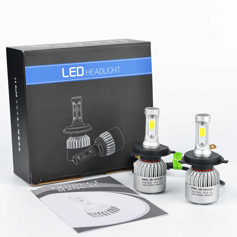 LDDCZENGHUITEC Car LED Headlights Bulbs H4/H7/H11/H13/9005/9006 Hi-Lo Beam Car Led Headlights 8000LM 6500K Auto Led Headlamp 12v
